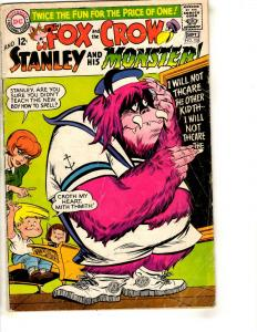 The Fox & The Crow # 105 VG DC Silver Age Comic Book Stanley Monster JL17
