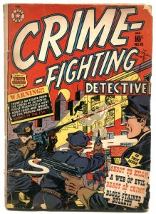 Crime-Fighting Detective #18 1952- LB Cole cover- Web of Evil G
