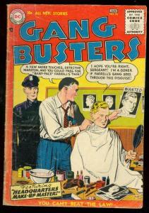 GANG BUSTERS #55 1957-DC COMICS-CRIME-POLICE DISGUISE G/VG