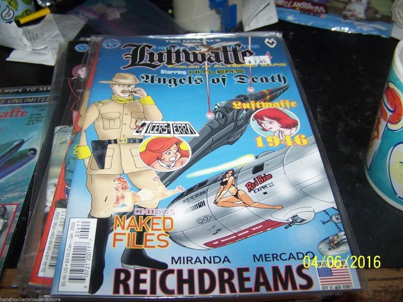 TIGERS OF THE LUFTWAFFE COMIC # 4-  FAMILIES OF ALTERED WARS ANIME TED NOMURA