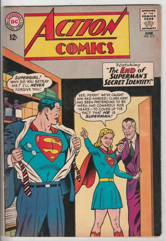 Action Comics #313 (Jun-64) VG/FN+ Mid-Grade Superman, Supergirl