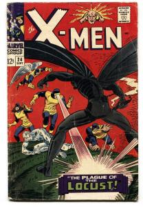 X-MEN #24 CYCLOPS-ANGEL1966 MARVEL comic book silver-age G/VG