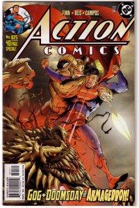 Action Comics   vol. 1   #825 FN Finn/Reis, Churchill cover, Gog, Doomsday