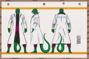 Official Handbook of the Marvel Universe Sheet- Lizard