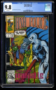 Fish Police #1 CGC NM/M 9.8 White Pages Marvel 1992