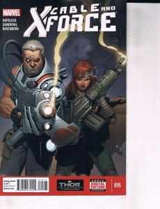 Lot Of 2 Comic Books Marvel Cable X-Force #14 and #15 ON9