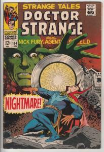 Strange Tales #164 (Jan-68) VG/FN Affordable-Grade Nick Fury, Dr. Strange