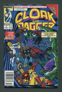 Cloak & Dagger #9 / 9.4 NM+  Newsstand December 1989