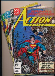 LOT of 6-DC Action Comics #585,586,587,588,589,590  SUPERMAN  FN/VF (SRU134)