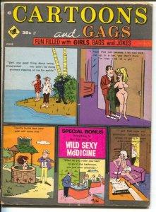 Cartoons and Gags 6/1970-Marvel-Pussycat comic strip-Ted Trogdon-cartoons-VG