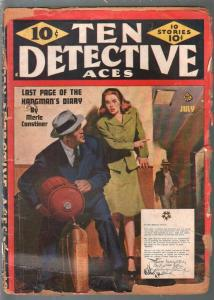 Ten Detective Aces 7/1948-terrorist cover-pulp thrills-rogues gallery-FR
