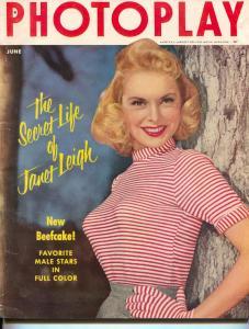 Photoplay-Janet Leigh-Marlon Brando-Ann Blyth-Elaine Stewart-June-1954