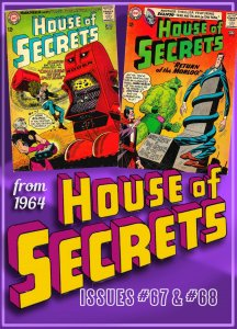 HOUSE OF SECRETS #67 & 68 (1964) 5.0 VG/FN   Mark Merlin and ECLIPSO!! Toth!