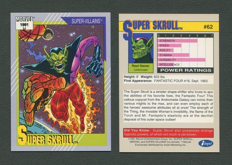 1991 Marvel Comics II  Card  #62 ( Super Skrull )  MINT