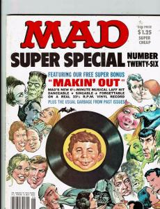 Mad Super Special # 26 Comic Book Magazine Comedy Parody Insert Included J146