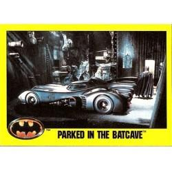 1989 Batman The Movie Series 2 Topps PARKED IN THE BATCAVE #136