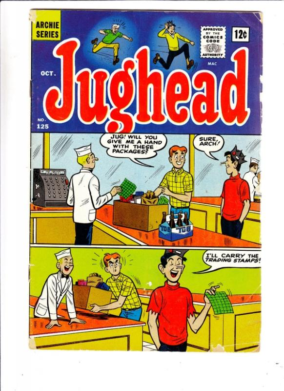 Jughead, Archie's Pal #125 (Oct-65) GD Affordable-Grade Archie, Betty, Veroni...