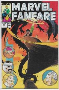 Marvel Fanfare (vol. 1, 1982) #37 FN Warriors Three, Fantastic Four, Vess