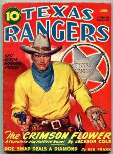 Texas Rangers Pulp June 1946- Jim Hattfield- Crimson Flower VG