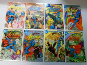 Late Bronze Age Action Comics Lot From:#500-549, 42 Diff. Average 7.0 (1979-83)