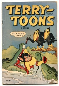 Terry-Toons #63 1947- Alligator cover- Mighty Mouse VG-