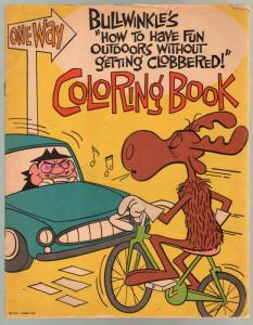 Bullwinkle Coloring Book #A16936 1963-rare giveaway edition-G