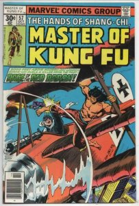 MASTER OF KUNG FU #57, VF/NM, Martial Arts, Marvel Red Baron 1974 1977