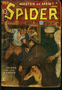 SPIDER 1935 OCT-RARE HERO PULP-GREAT COVER! G