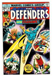 THE DEFENDERS #28-First appearance STARHAWK Comic Book