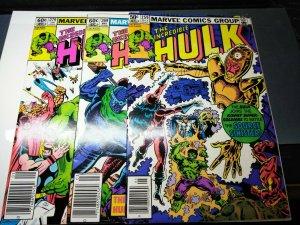 The Incredible Hulk #259, #269 & #279 (May 1981, Marvel) Beautiful High Grade!