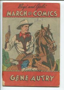March of Comics #54 1950- GENE AUTRY- VG-