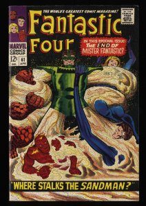Fantastic Four #61 VF- 7.5 White Pages