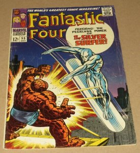 Fantastic Four #55 VG 1966 Marvel Silver Age Comic Early Silver Surfer App Key!!