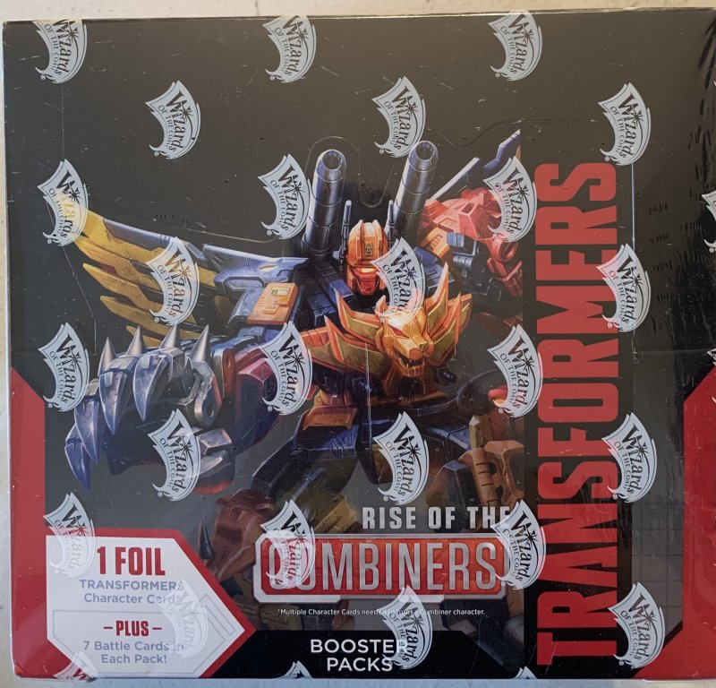 Transformers trading card game Sealed Box Rise of the Combiners booster packs