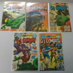 DC War GI Combat Comic Lot, 5 Different, Average 4.0 VG (1974-1983)