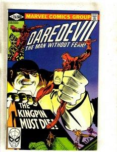 Daredevil # 170 NM Marvel Comic Book Frank Miller Elektra Bullseye Hand HJ9
