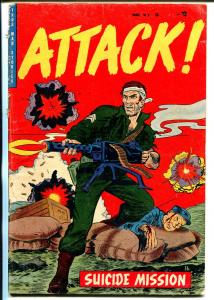 Attack #6 1953-Trojan-bloody Korean War battle cover-Harry Harrison-rare-VG