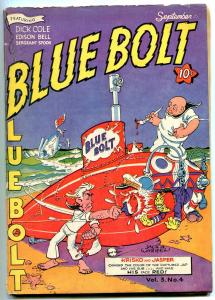 BLUE BOLT v.3 #4 1942- Last costumed issue- Anti Japanese WWII cover VG