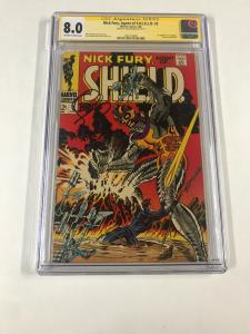 Nick Fury Agent Of Shield 2 Cgc 8.0 Ow/w Pgs Ss Signature Series Jim Steranko