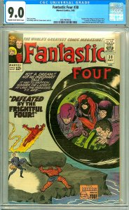 Fantastic Four 38 (CGC 9.0) C-O/W pages; Frightful Four; Kirby; 1965