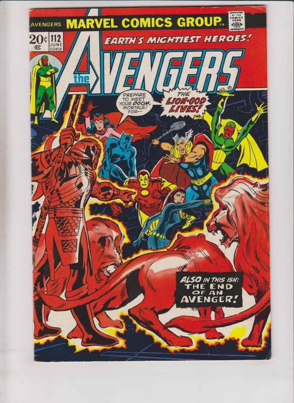 Avengers #112 FN first appearance of mantis (from guardians of the galaxy)