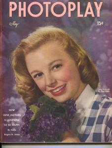 Photoplay-June Allyson-Judy Garland-Larry Parks-Claudette Colbert-May-1947