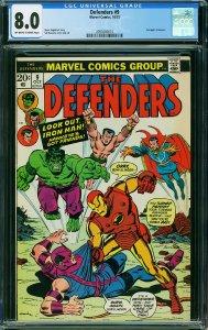 Defenders #9 (Marvel, 1973) CGC 8.0