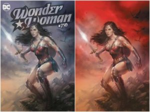 Wonder Woman #750 Lucio Parrillo Virgin Variant Set