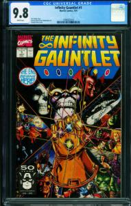 INFINITY GAUNTLET #1  THANOS CGC 9.8 1991 First issue 1990925019