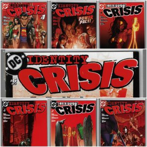 Identity Crisis #1-7 (DC, 2004-2005) NM average - Red Covers