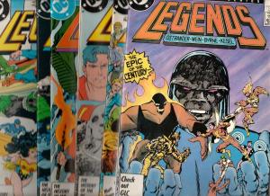 Legends Set #1to6 (Nov-86) NM- High-Grade Suicide Squad