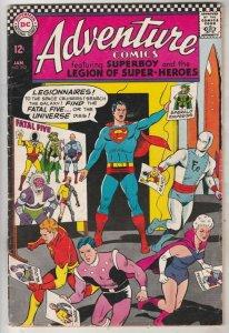 Adventure Comics #352 (Jan-67) FN+ Mid-High-Grade Legion of Super-Heroes, Sup...