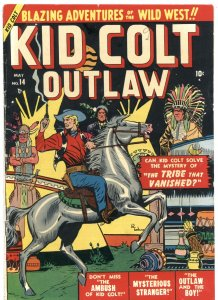 KID COLT OUTLAW #14-1951-THE TRIBE THAT VANISHED-ATLAS WESTERN HERO-RARE