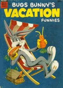 Dell Giant Comics: Bugs Bunny's Vacation Funnies #4, VG (Stock photo)